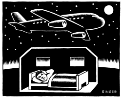Airplane Noise at Night by Andy Singer