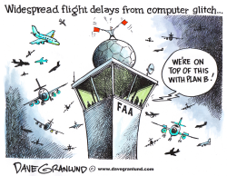 Flight delays from FAA glitch by Dave Granlund
