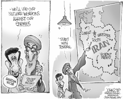 Irans enemies list BW by John Cole