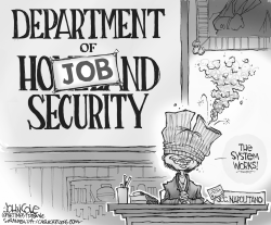 Department of Job Security BW by John Cole