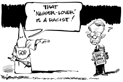 Reid the racist by Milt Priggee