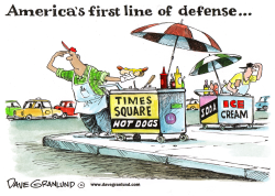 Times Square vendors by Dave Granlund