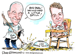 Ron Paul and sloppy Rand Paul by Dave Granlund