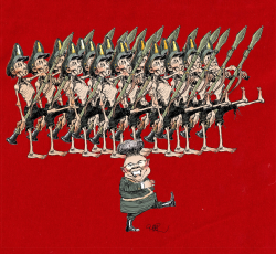 Kim Jong Il marching on by Riber Hansson