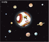 World Cup solar system by Patrick Corrigan, The Toronto Star