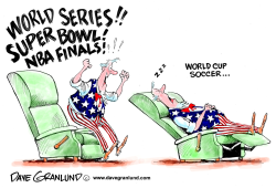World Cup and US fans by Dave Granlund