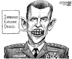 McChrystal Shows His Teeth by Adam Zyglis
