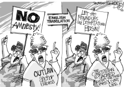 Immigration Anchorites by Pat Bagley