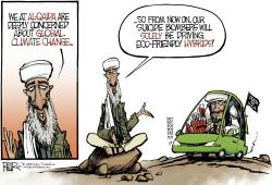 Osama Goes Green  by Nate Beeler