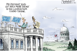 White House Solar Panels by Joe Heller