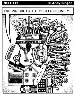 Consumer Product Head by Andy Singer
