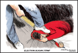 Politics stomps out truth by J.D. Crowe