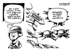Gays in the military by Jimmy Margulies