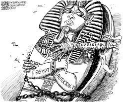 Egypt Uprising by Adam Zyglis