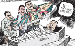 Egyptian Uprising  by Mike Keefe