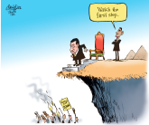 Mubarak steps down by Patrick Corrigan, The Toronto Star