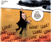Mubarak hanging on by Patrick Corrigan, The Toronto Star