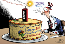 Obamacare Anniversary  by Nate Beeler
