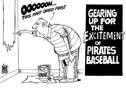 LOCAL- PITTSBURGH PIRATES, B/W by Randy Bish