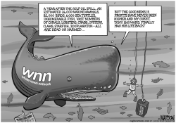 Whale News Network Covers Gulf Oil Spill Anniversary by RJ Matson