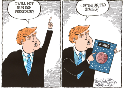 Donald Trump  by Bob Englehart