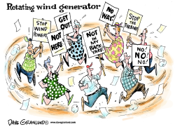 Wind generators by Dave Granlund
