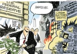 Barbarians at the Gate  by Pat Bagley