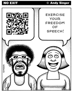 QR Code Censorship by Andy Singer