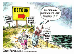 Hurricane paths by Dave Granlund