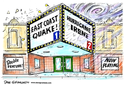 Hurricane Irene and quake by Dave Granlund
