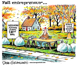 Autumn entrepreneur by Dave Granlund